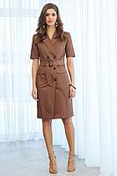 Женское летнее коричневое платье AYZE 2037 коричневый 42р.