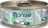 Monge Jelly Влажный корм для котят желтоперый тунец с алое в желе, 80гр