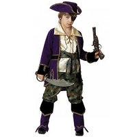 Карнавальный костюм 'Капитан пиратов', (бархат и парча), размер 36, рост 146 см, цвет лиловый