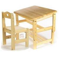 Набор мебели Стол и Стул регулируемые, массив/лак, от 3 до 7 лет