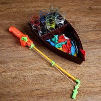 Игра 'Пьяная рыбалка', лодка 30х16 см, 6 стопок
