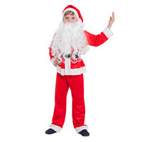 Детский карнавальный костюм 'Санта-Клаус', колпак, куртка, штаны, борода, р-р 30, рост 110-116 см