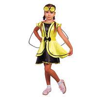 Карнавальный костюм 'Муха', платье, повязка, р-р 32, рост 122-128 см