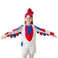 Карнавальный костюм 'Петушок', 3-5 лет, рост 104-116 см, цвет белый