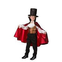 Карнавальный костюм 'Дракула парадный', сорочка, жилет, плащ, шляпа, р. 36, рост 146 см