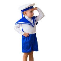 Карнавальный костюм 'Юнга', бескозырка, воротник, шорты, 5-7 лет, рост 122-134 см