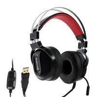 Наушники Redragon Ladon, игровые, полноразмерные, микрофон, USB, 2 м, чёрно-красные