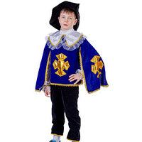 Карнавальный костюм 'Мушкетёр', бархат, рубашка-накидка, брюки, шляпа, рост 134 см