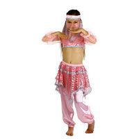 Карнавальный костюм 'Ясмин', повязка, топ с рукавами, штаны, цвет розовый, р-р 30, рост 110-116 см