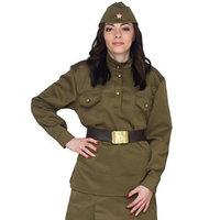 Комплект военный женский, пилотка, гимнастёрка, ремень с бляхой, р. 48-50, рост 170 см