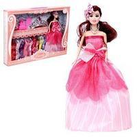Кукла модель 'Елена', с набором платьев, обувью и аксессуарами, МИКС
