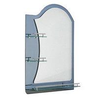 Зеркало в ванную комнату двухслойное Ассоona A623, 80x60 см, 3 полки, цвет сталь