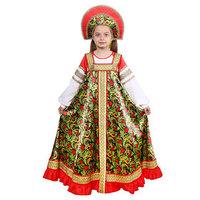 Русский народный костюм 'Рябинушка' для девочки, р. 32, рост 122-128 см