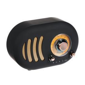 Портативная колонка Hiper RETRO S, BT, 5 Вт, Micro-USB, 1800 мАч, черная - фото 1