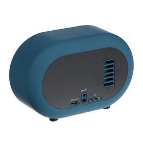 Портативная колонка Hiper RETRO S, BT, 5 Вт, Micro-USB/AUX, 1800 мАч, синяя - фото 3