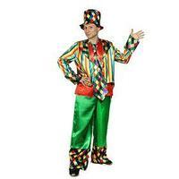 Взрослый карнавальный костюм 'Клоун', шляпа, фрак, безрукавка, брюки, галстук, р-р 56-58, рост 182 см