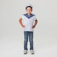 Детский карнавальный костюм 'Моряк', жилет, бескозырка, 4-6 лет, рост 110-122 см