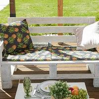Подушка на трехместную скамейку 'Этель' Ананасы, 45x150 см, репс с пропиткой ВМГО, 100 хлопок