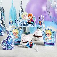 Набор для оформления праздника 'С Днем Рождения!', Холодное сердце, 40 предметов