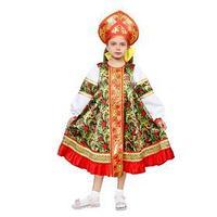 Русский народный костюм 'Рябинка', платье, кокошник, р. 36, рост 134-140 см
