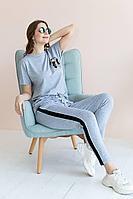 Женский осенний трикотажный серый спортивный спортивный костюм Claire 1982 серый 44р.