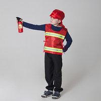Костюм детский 'Пожарный' со светоотражающими полосами жилет, головной убор, рост 98-128 см