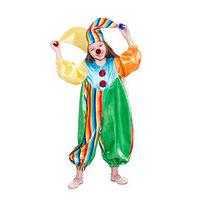 Карнавальный костюм 'Клоун Фантик', комбинезон, шапка, носик, р. 28, рост 98 см
