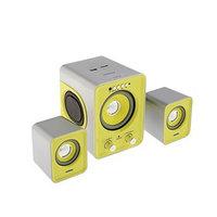 Компьютерные колонки 2.1 Smartbuy BUZZ SBA-2610, 2х1 Вт3 Вт, MP3, FM, ПДУ, USB,сереб-желтые