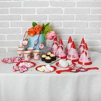 Набор для праздника 'Малышка', 6 стаканов, 6 трубочек, 6 язычков, 6 тарелок, 6 колпаков, 6 очков