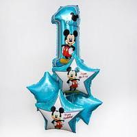 Набор фольгированных шаров 'Happy Birthday', Микки Маус 25'