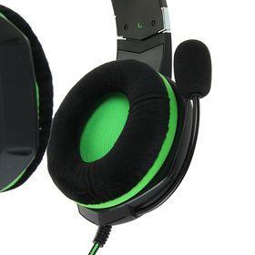 Наушники Smartbuy RUSH TAIPAN, игровые, микрофон, USB, 2.5 м, чёрно-зеленые - фото 2