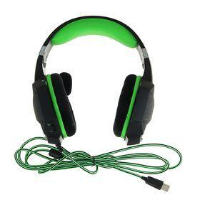 Наушники Smartbuy RUSH TAIPAN, игровые, микрофон, USB, 2.5 м, чёрно-зеленые - фото 6