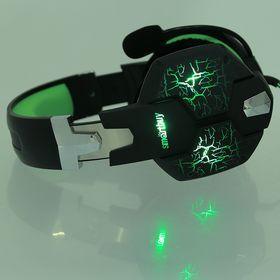 Наушники Smartbuy RUSH TAIPAN, игровые, микрофон, USB, 2.5 м, чёрно-зеленые - фото 9