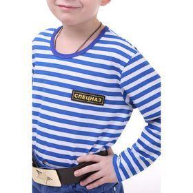 Детский костюм военного 'ВДВ', тельняшка, голубой берет, ремень, рост 116 см - фото 2