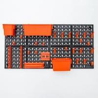 Панель инструментальная с наполнением Blocker Expert, 65,2x10x32,6 см, цвет черный-оранжевый