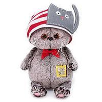Мягкая игрушка 'Басик Baby в шапочке с котиком', 20 см