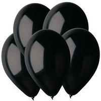 Шар латексный 12', пастель, набор 100 шт., цвет чёрный