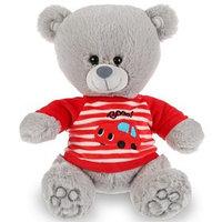 Мягкая игрушка 'Медведь в футболочке с машинкой' 22 см, воспроизводит стихи А.Барто