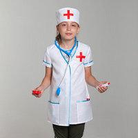 Карнавальный костюм 'Доктор', халат, колпак, инструменты, р-р 34, рост 134-140 см