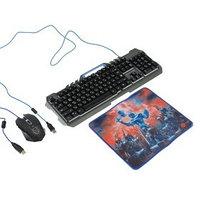 Игровой набор Defender Killing Storm MKP-013L RU,клавиатурамышьковрик,проводной,мембранный