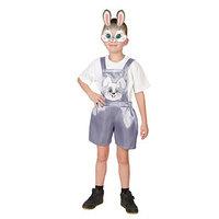 Карнавальный костюм 'Зайчонок', полукомбинезон, маска, р. 30, рост 110-116 см