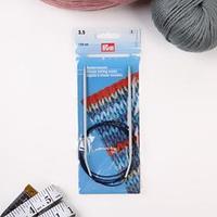 Спицы для вязания, круговые, с пластиковой леской, d 3,5 мм, 120 см