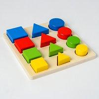 Головоломка 'Логические дроби' учим формы, цвета и размеры, 12 элементов