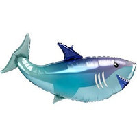 Шар фольгированный 38' 'Акула', фигура