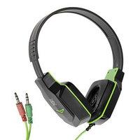 Наушники Defender Warhead G-320, игровые, полноразмерные,микрофон, 3.5мм,1.8 м,чёрно-зеленые