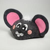 Карнавальная шляпа детская 'Мышка', р-р. 52-54