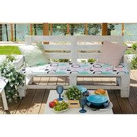 Подушка на трехместную скамейку 'Этель' Квадраты, 45x150 см, репс с пропиткой ВМГО, 100 хлопок