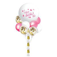 Фонтан из шаров 'Свадебный', гирлянда, лента, наклейки, конфетти, 16 предметов в наборе