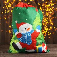 Мешок Деда Мороза 'Снеговик', с подарками, 58x42 см