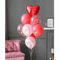 Фонтан из шаров 'Большая любовь', с конфетти, латекс, фольга, 10 шт.